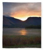 Slipping Into The Night Fleece Blanket