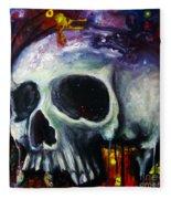 Sloppy Skull Fleece Blanket