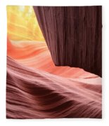 Slot Canyon Sun Fleece Blanket
