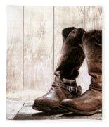 Slouch Cowboy Boots Fleece Blanket