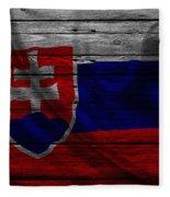 Slovakia Fleece Blanket