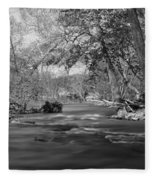 Slow Down At The River Fleece Blanket