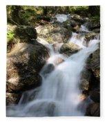 Slow Shutter Waterfall Scotland Fleece Blanket