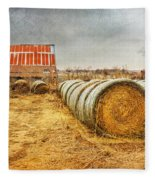 Slumbering In The Countryside Fleece Blanket