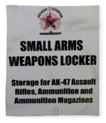 Small Arms Signage Russian Submarine Fleece Blanket