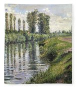 Small Branch Of The Seine At Argenteuil Fleece Blanket