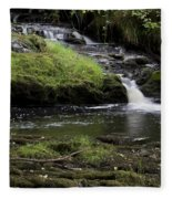 Small Falls On West Beaver Creek Fleece Blanket