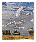 Small Farms Fading Fast Fleece Blanket