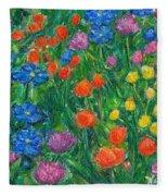 Small Flowers Fleece Blanket