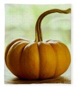 Small Orange Pumpkin Fleece Blanket