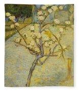 Small Pear Tree In Blossom Fleece Blanket