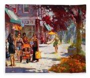 Small Talk In Elmwood Ave Fleece Blanket