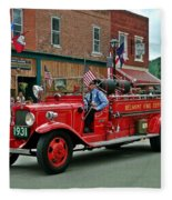 Small Town Fourth Of July Fleece Blanket