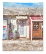 Small Town Pit Stop  Fleece Blanket