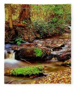 Small Waterfall And Stream 2 Fleece Blanket