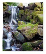 Small Waterfall In Marlay Park Dublin Fleece Blanket