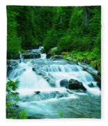 Small Waterfall On The Paradise River Fleece Blanket