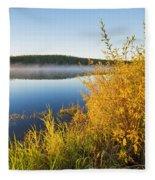 Smallfish Lake In Porcupine Hills Fleece Blanket