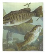 Smallmouth Bass Fleece Blanket