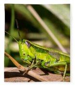 Smaragd-green Grasshopper Fleece Blanket
