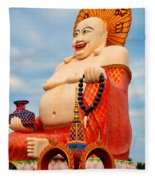 smiling Buddha Fleece Blanket