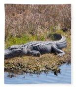 Smiling Gator Fleece Blanket
