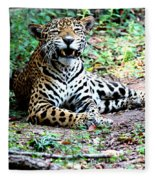 Smiling Jaguar Fleece Blanket