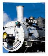Smiling Locomotive Fleece Blanket