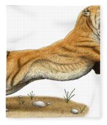 Smilodon Saber-toothed Tiger Fleece Blanket