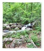 Smith Creek Downstream Of Anna Ruby Falls - 2 Fleece Blanket