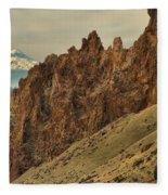 Smith Rock And Cascades Fleece Blanket