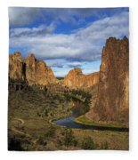 Smith Rock State Park - Oregon Fleece Blanket