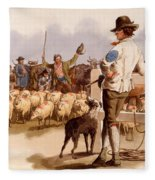 Smithfield Drover, From The Costumes Fleece Blanket