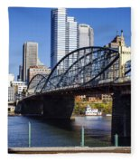Smithfield Street Bridge Fleece Blanket