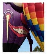 Smitten Hot Air Balloon Fleece Blanket