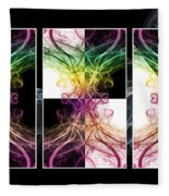 Smoke Art Triptych Fleece Blanket
