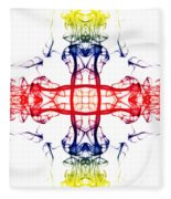 Smoke Cross 4 Fleece Blanket