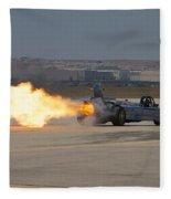 Smoke N Thunder Jet Car Fleece Blanket