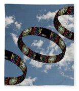 Smoke Rings In The Sky 1 Fleece Blanket