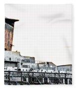 Smoke Stacks - Ss United States - Philadelphia Fleece Blanket