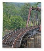 Smokey Mountain Railroad Steel Girder Bridge Fleece Blanket