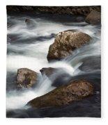 Smokey Mountain Stream In Autumn No.11 Fleece Blanket
