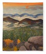 Smokey Mountain Sunset Fleece Blanket