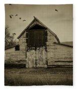 Smokey Prairie Barn  Fleece Blanket
