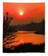 Smokey Sunrise Fleece Blanket