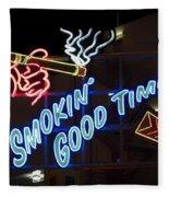 Smokin Good Times In Las Vegas Fleece Blanket
