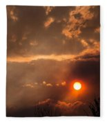 Smoky Clouds Over The Rogue Valley Fleece Blanket