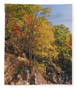 Smoky Mountain Autumn Fleece Blanket