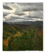 Smoky Mountain Autumn View Fleece Blanket