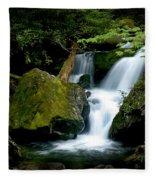 Smoky Mountain Falls Fleece Blanket